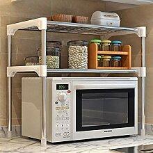 Küchenspeicherregal, Silber Einstellbare Stahl