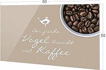 Küchenspiegel Kaffee Spruch, Küche Glasrückwand