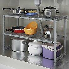 Küchenspüle Rack / Multifunktions-Regal / einziehbar, Edelstahl ( Farbe : C )