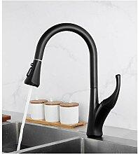 Küchenspüle Wasserhahn Schwarz Chrom Messing
