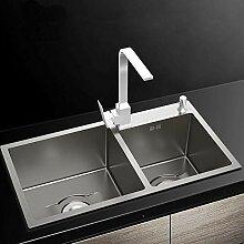 Küchenspülen Doppelwaschbecken Edelstahlspüle