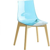 Küchenstuhl in hell Blau Kunststoff
