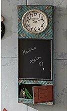 Küchentafel mit Uhr Bunt Pharao24