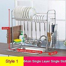 Küchenteller Trockenregal über Waschbecken