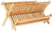 Küchenteller Trocknung Abtropfgestell aus Bambus