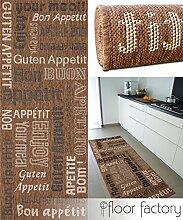 Küchenteppich Bon Appetit braun 80x200 cm - günstiger Küchenläufer