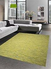Küchenteppich Indoor Teppich Outdoor Teppich beidseitig nutzbar grün meliert Größe 67x180 cm