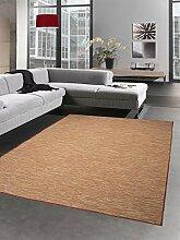 Küchenteppich Indoor Teppich Outdoor Teppich beidseitig nutzbar terra orange meliert Größe 120x160 cm