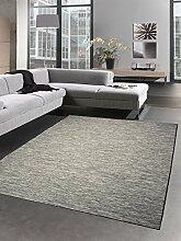 Küchenteppich Indoor Teppich Outdoor Teppich beidseitig nutzbar anthrazit schwarz grau meliert Größe 120x160 cm