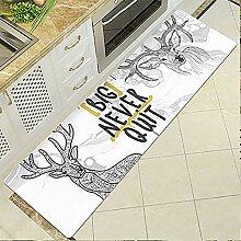 Küchenteppich Mit Elchmuster Abriebfeste,
