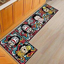 Küchenteppich Mit Rutschfester PVC-Unterseite,