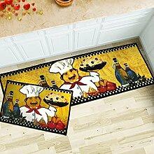Küchenteppich, rutschfest 40cmx60cm+40cmx120cm 2