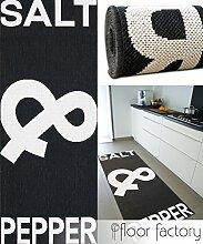 Küchenteppich Salt&Pepper schwarz 80x200 cm - günstiger Küchenläufer