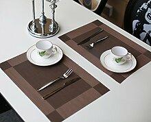 Küchentextilien Tischset Placemats schmutzabweisend Tischsets gewebt(4er-Set)
