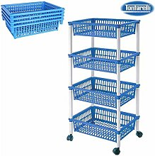 Küchentrolley 4Körben 40x 85Mythos blau