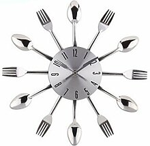 Küchenuhr, Likeluk 12 Zoll(30cm) Besteck-Design Lautlos Wanduhr Küche Dekorative Uhr Cutlery Kitchen Wall Clock