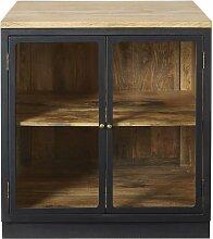 Küchenunterschrank mit 2 Glastüren aus massivem