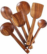 Küchenutensilien aus Holz Set, 6Pcs Kochen