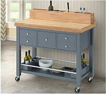 Küchenwagen Holz auf Rollen AROMATA - 5 Schubladen