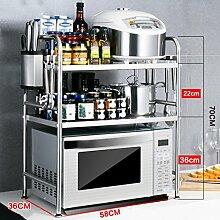 Küchenwagen HWF 3 Ebenen Mikrowellenherd Rack