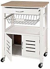 Küchenwagen mit Türen Weiß Pharao24