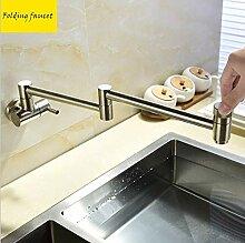 Küchenwandklapparmatur Kupfer 360 ° drehbar