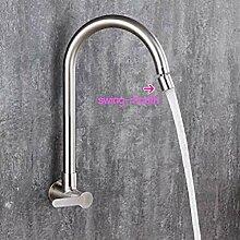 Küchenwandmischer Single Cold 304 Edelstahl