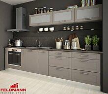 Küchenzeile 169021 Küche 9-teilig 290cm jersey / beige ma