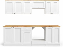 Küchenzeile Cambridge 240cm Landhaus Stil