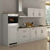 Küchenzeile in Weiß 290 cm (10-teilig)