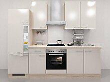 Küchenzeile Kaschmir Glanz 270 cm mit Glaskeramikkochfeld - Avanti Neapel