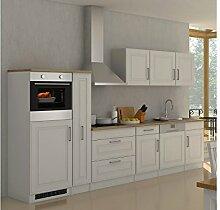 """Küchenzeile Küche Küchen-Set Küchenblock Einbauküche Kochnische """"""""Rom III"""""""" Weiß ma"""