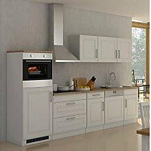 """Küchenzeile Küchen-Set Küchenblock Einbauküche Küche Kochnische """"""""Rom II"""""""" Weiß ma"""