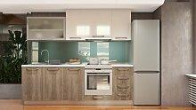 Küchenzeile / Küchenblock Fagali 10, 8-teilig,