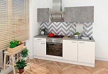 Küchenzeile, mit E-Geräten, Breite 210 cm EEK B
