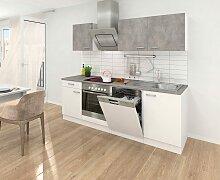 Küchenzeile, mit E-Geräten, Breite 220 cm EEK B