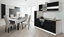 Küchenzeile, mit E-Geräten, Breite 240 cm EEK B