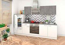 Küchenzeile, mit E-Geräten, Breite 270 cm EEK B