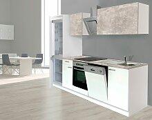 Küchenzeile, mit E-Geräten, Breite 280 cm EEK B