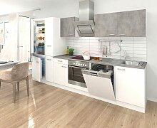 Küchenzeile, mit E-Geräten, Breite 310 cm EEK B