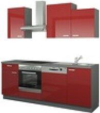 Küchenzeile mit Elektrogeräten  Erfurt ¦ rot