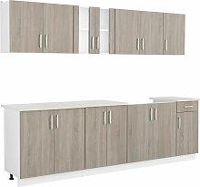 Küchenzeile mit Spülenunterschrank 8- tlg.