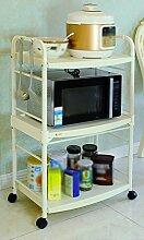 Küchenzubehör Regal Landung 2 Layer Küchengeschirr Cup Holder Gewürz Lagerung Rack Mikrowelle Ofen Regal ( größe : 59.5*28*74cm )