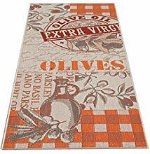 Küchläufer Läufer Diele Olive 80 x 200 cm ro