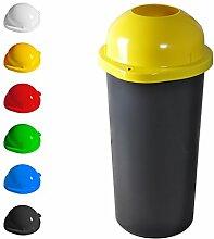 KUEFA 60L Mülleimer / Müllsackständer mit Einwurf (Gelb)
