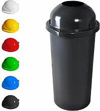 KUEFA 60L Mülleimer / Müllsackständer mit Einwurf (Grau)