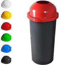 KUEFA 60L Mülleimer / Müllsackständer mit Einwurf (Rot)