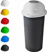 KUEFA 60L Mülleimer / Müllsackständer mit Einwurf (Weiss)