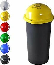 KUEFA 60L - Mülleimer Müllsackständer mit Laserbeschriftung (Gelb, Gelber Sack)