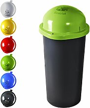 KUEFA 60L - Mülleimer Müllsackständer mit Laserbeschriftung (Hellgrün, Bioabfall)